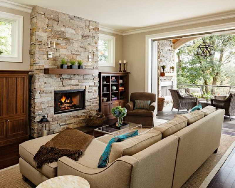 Small Room Brick Fireplace Designs