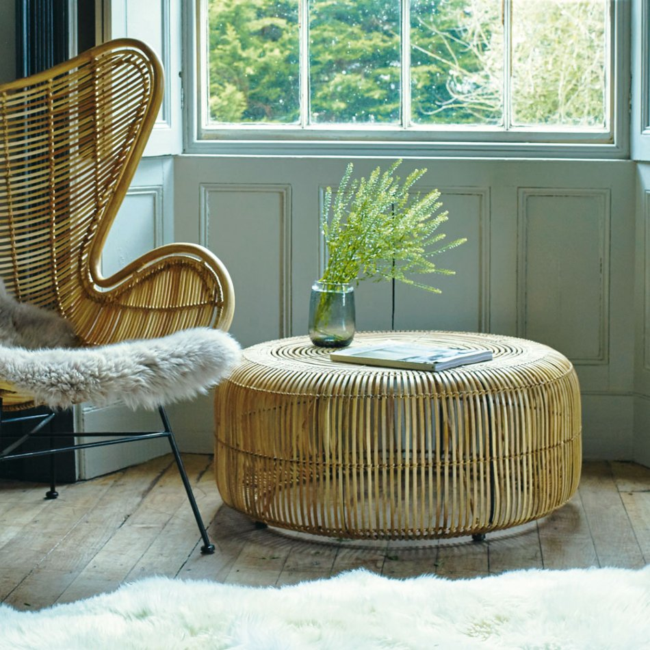 Wicker Coffee Table With Glass Decor Royals Courage Spherical