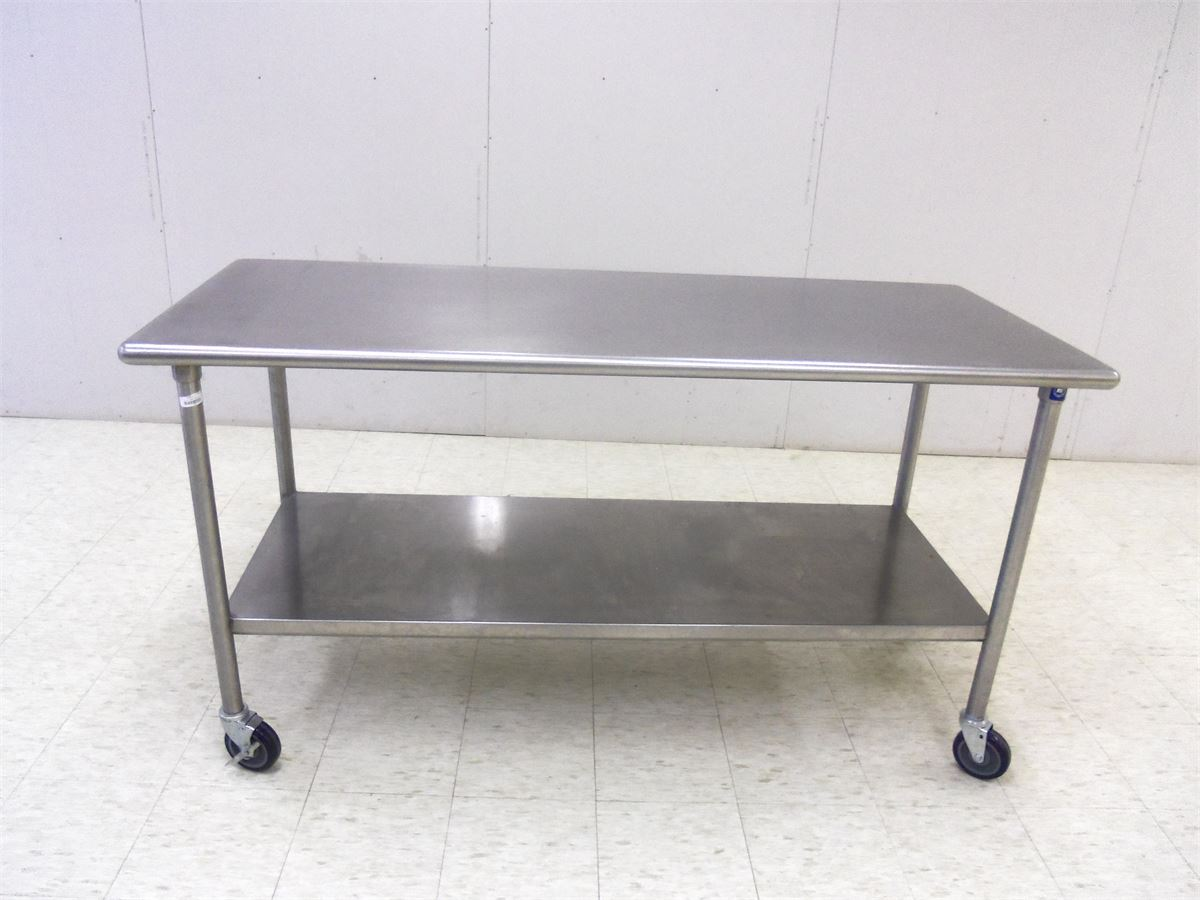 Stainless Steel Prep Table With Wheels