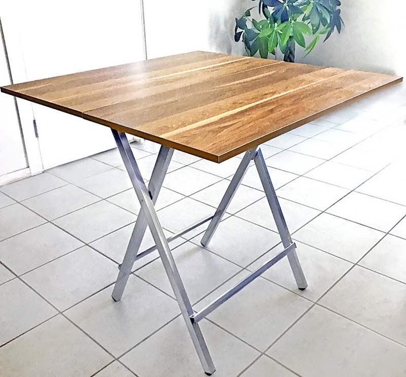 Square Wood Folding Table Royals Courage Numerous Ease