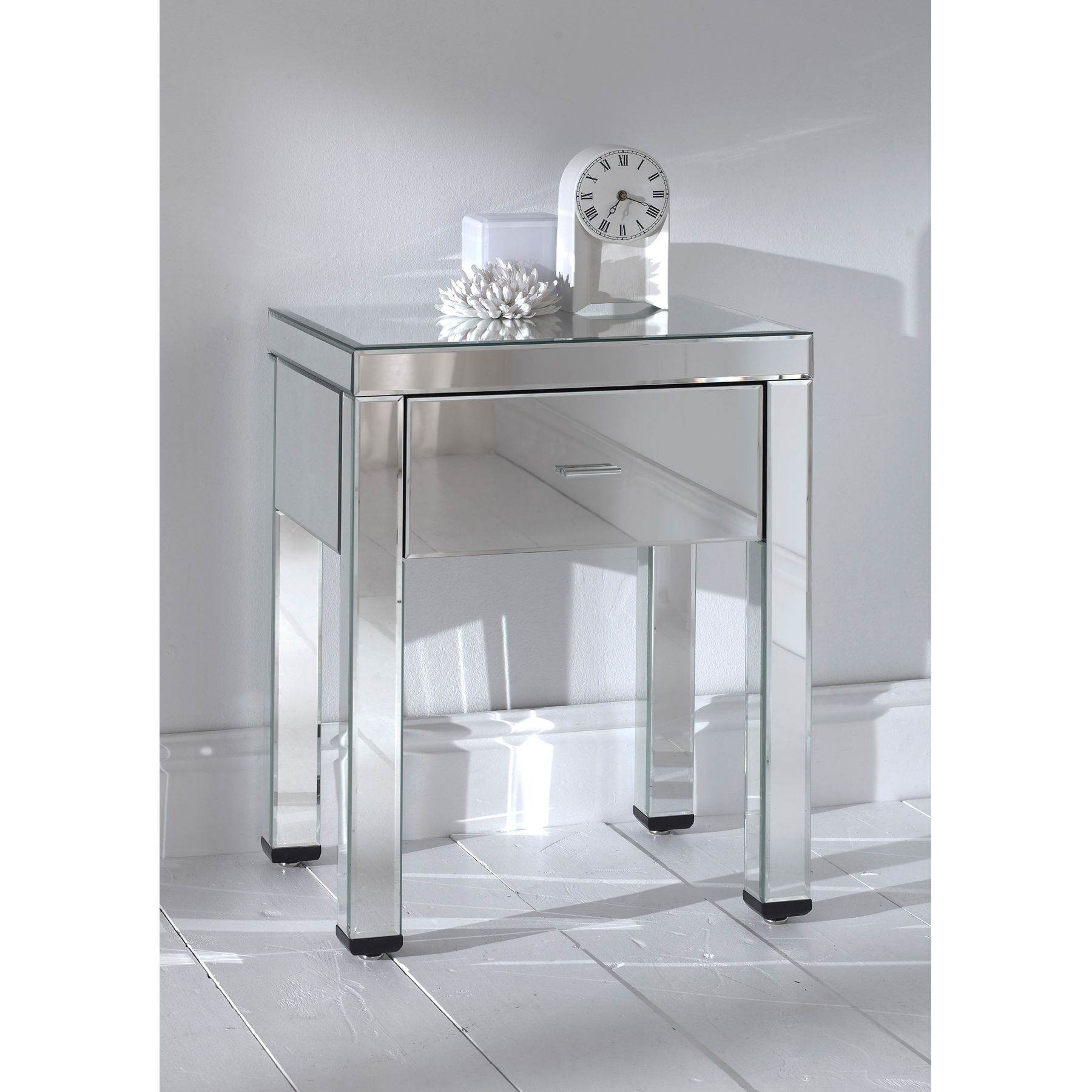Ornamental Merchandise Mirrored Bedside Table Royals Courage