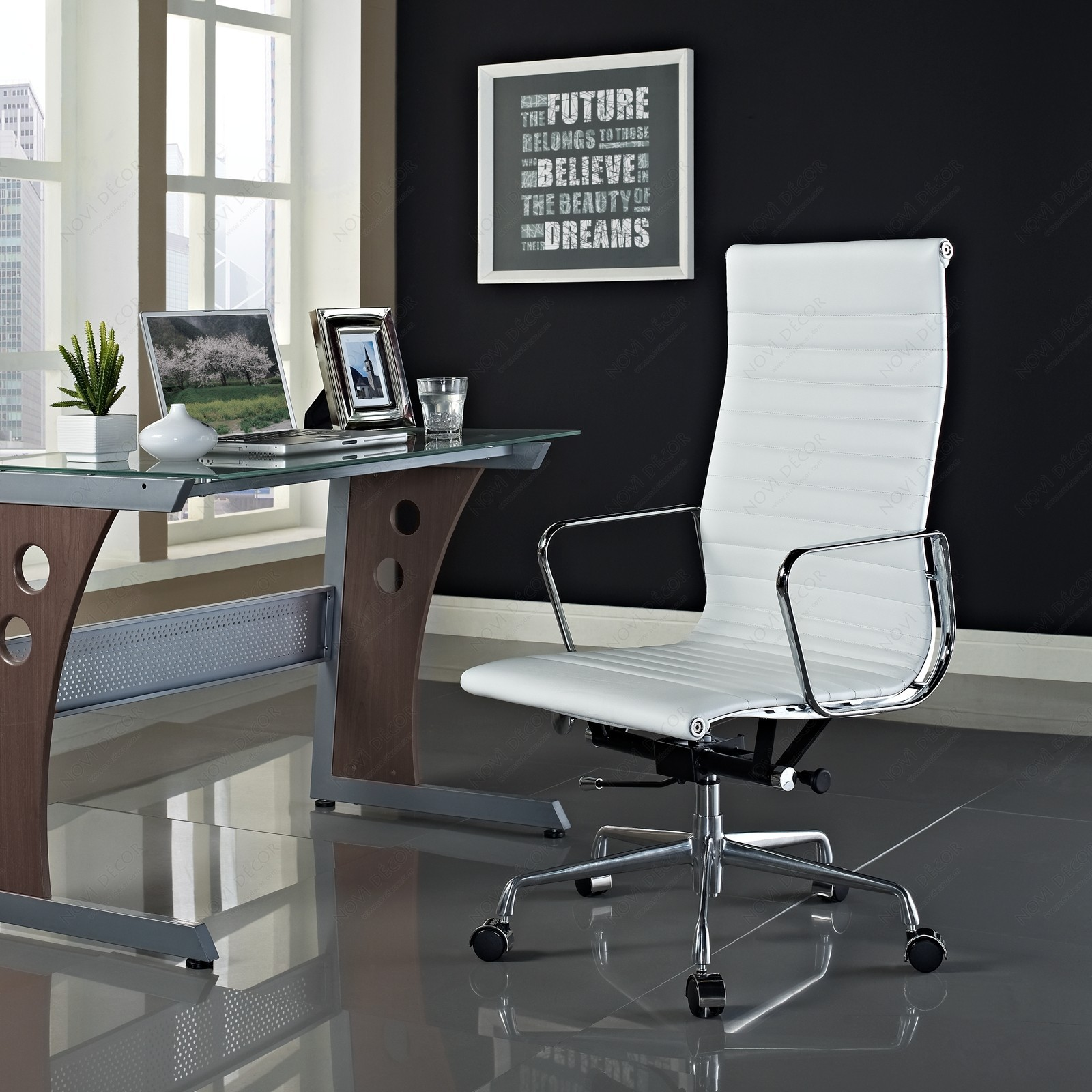 Image of: Teen Computer Desk Chair Ideas Royals Courage Finest White Leather Desk Chair