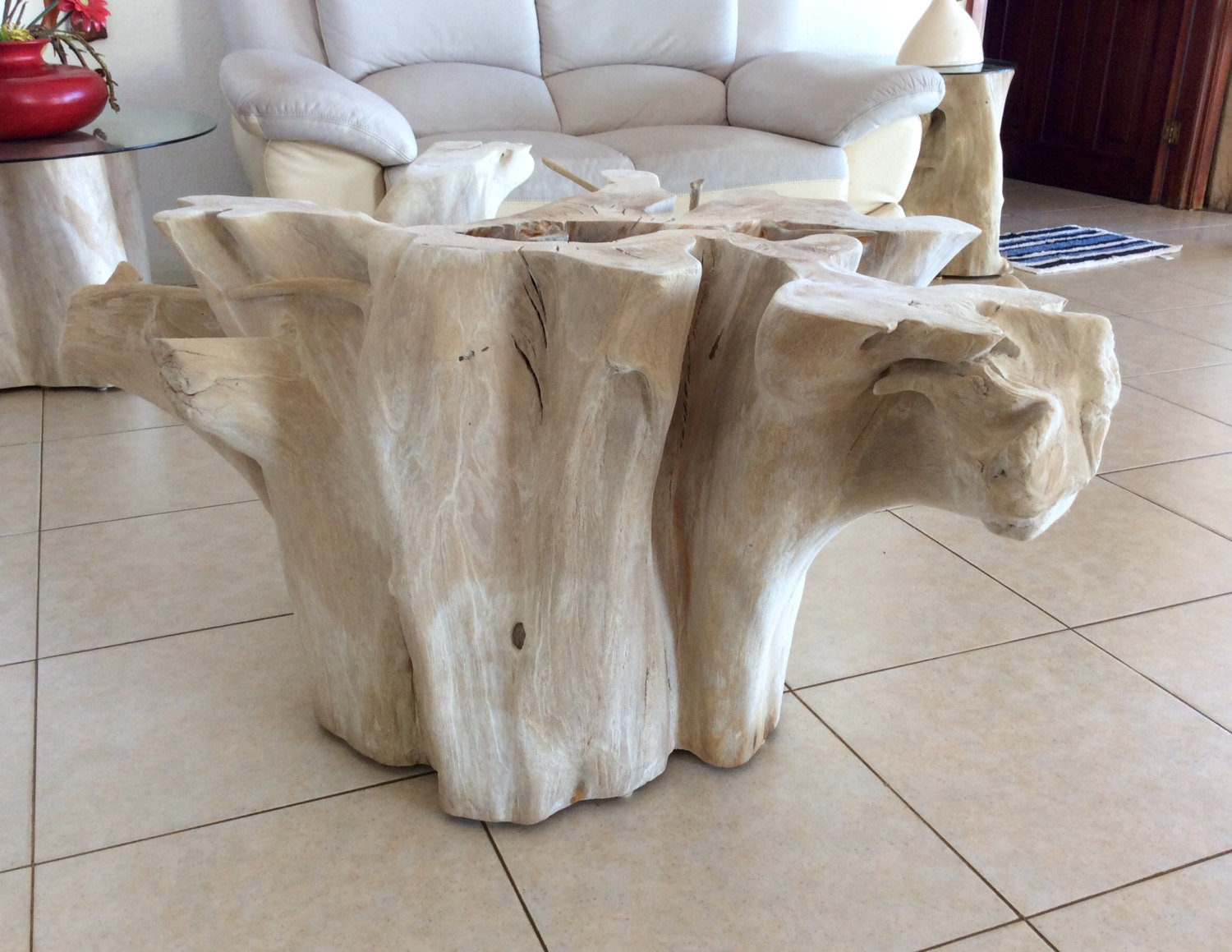 Curious Tree Stump Side Table Royals Courage