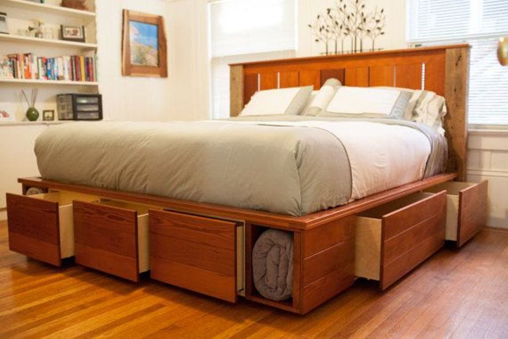 Platform Storage Bed Queen For The