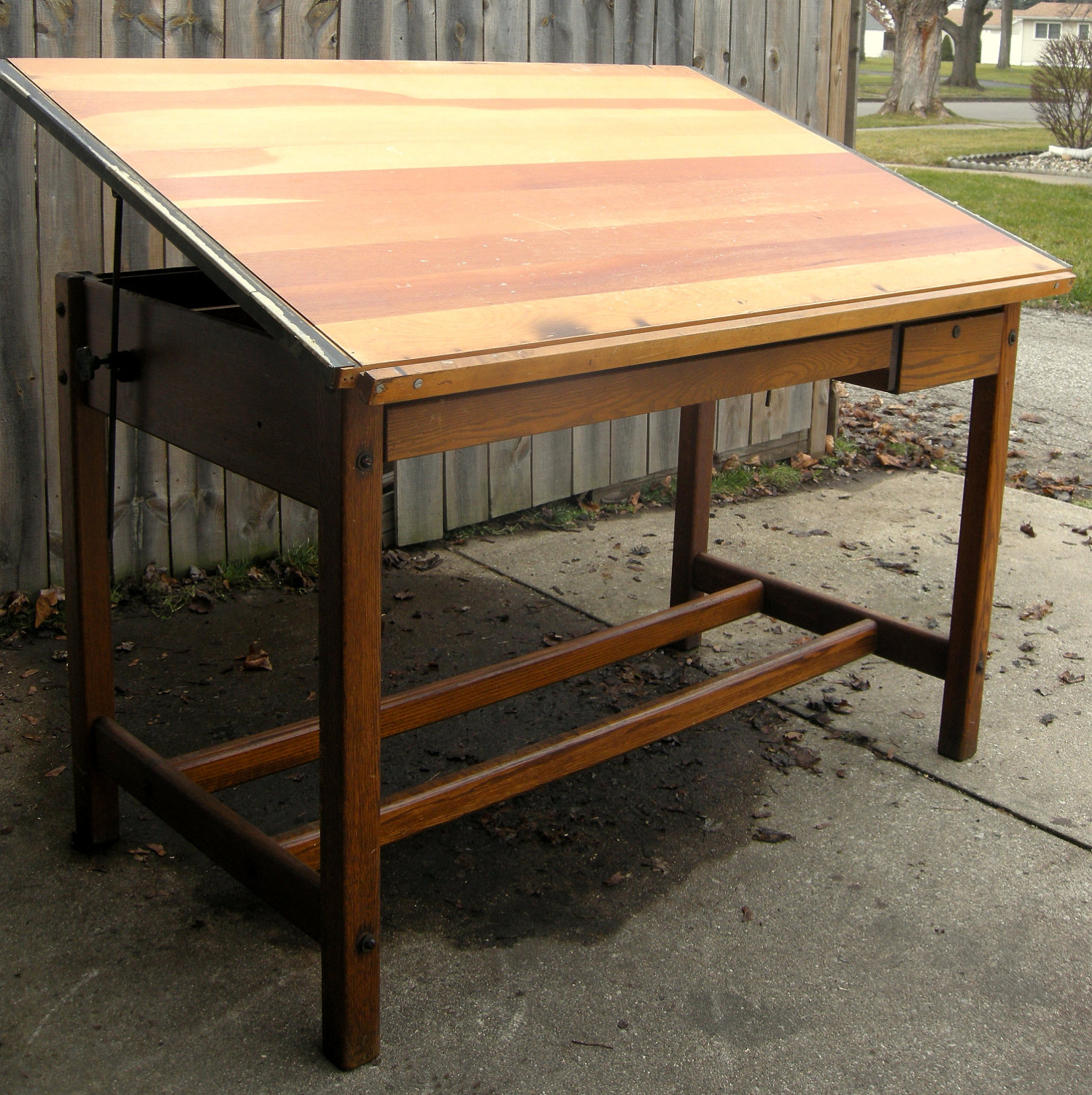 going to work with vintage drafting table | royals courage