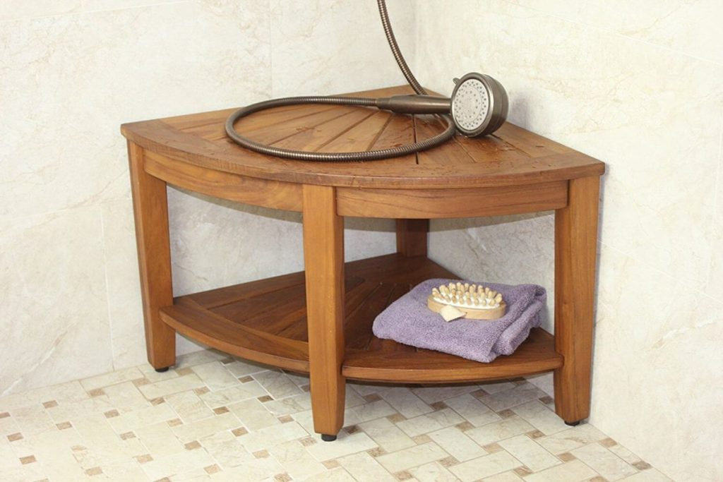 Picture of: Teak Shower Bench Ikea Royals Courage Teak Shower Bench Wall Mounted