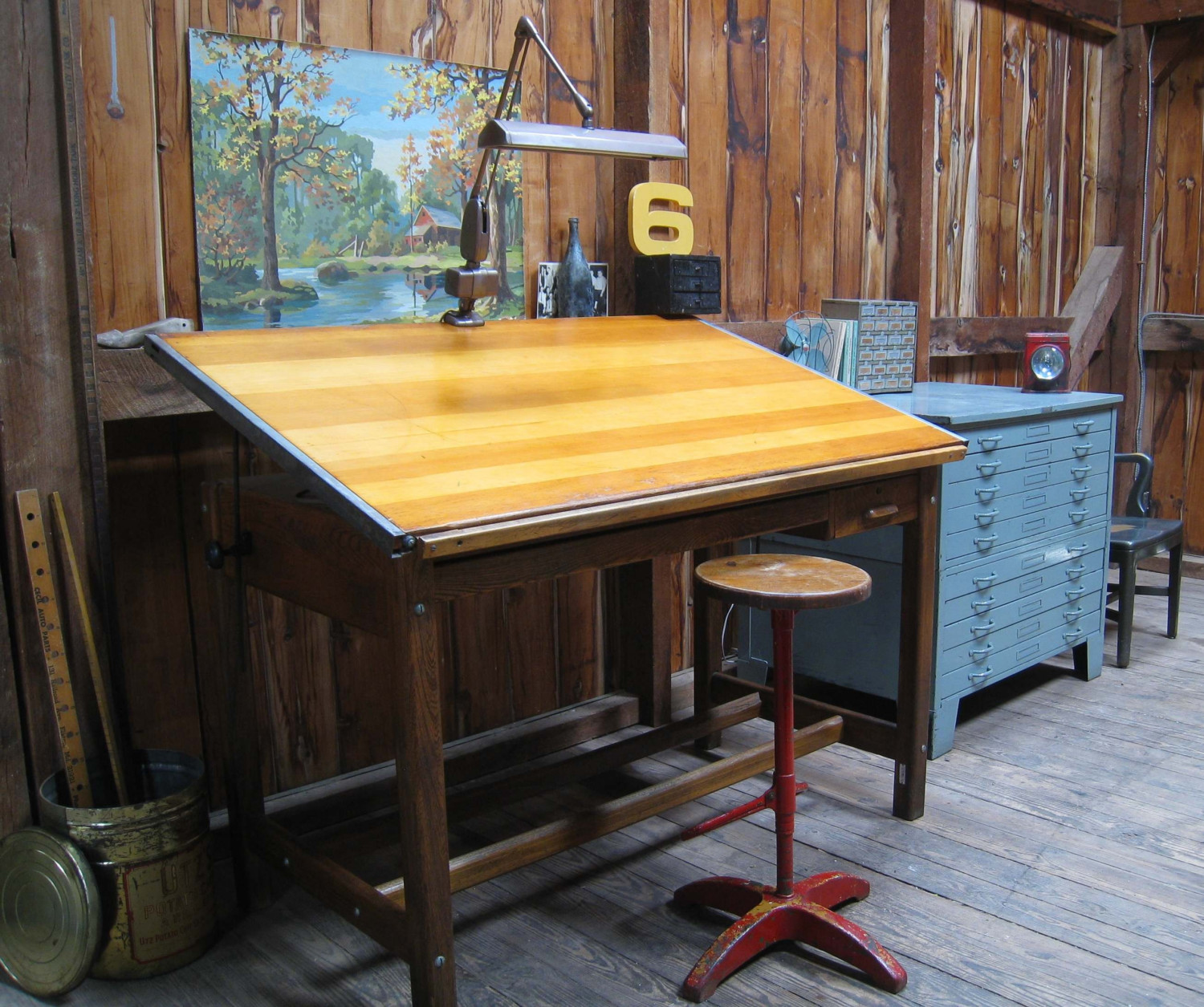 Wood Drafting Table With Drawers Royals Courage Going To Work